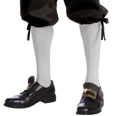 Colonial Halloween Costumes Adults (Colonial Knee High Costume Socks (White) Adult One Size | FORUM NOVELTIES)