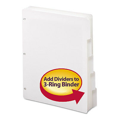 Smead Three-ring Binder Index Divider 5-tab White 89415