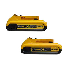 (2) DCB203-2 DEWALT 20V 20 Volt Max Lithium-Ion Battery Packs Model DCB203