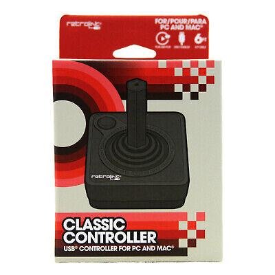 Atari 2600 BLACK USB Classic Controller Joystick to PC MAC RetroLink (Wired)