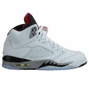 aeee4285 Air Jordan 5 V Retro White Cement University Red Black 136027-104 ...