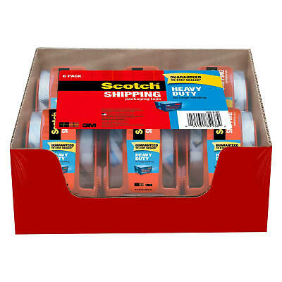 Scotch Clear Shipping Packing Tape 3m 2x1000 6 Rolls Wdispenser Heavy Duty New