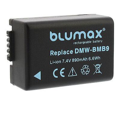 Akku für Panasonic DMW-BMB9 (E)   65121   DMC-FZ100 FZ150 FZ40 FZ45 FZ47 FZ48