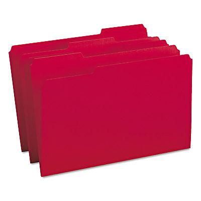Smead File Folders 13 Cut Top Tab Legal Red 100box 17743