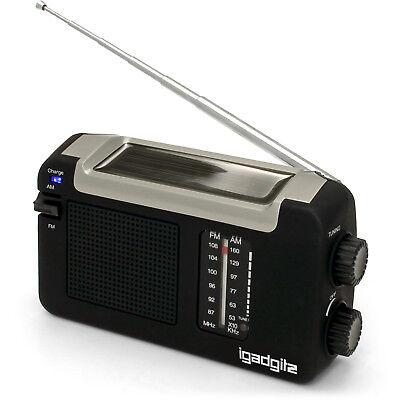 Wind Up Dynamo (Dynamo Wind Up, Solar, & USB Rechargeable Portable AM FM Radio + 3 Year)