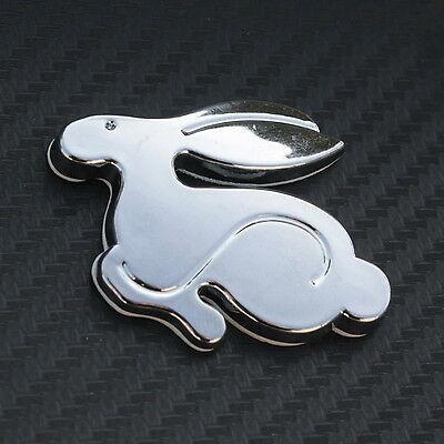 3D badge rabbit Emblem Logo Sticker Decal VW GTI Chrome Volkswagen Golf TDI New