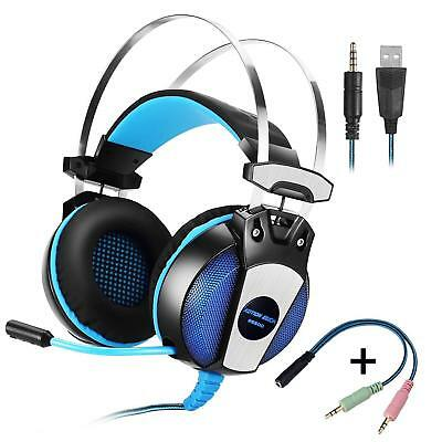 EACH GS500 Stereo Gaming Headsets Headphone for PS4 New Xbox One PC with Mic Led