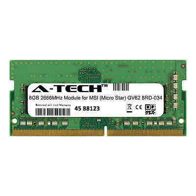 A-Tech 8GB 2666MHz DDR4 RAM for MSI GV62 8RD-034 Laptop Notebook Memory - Memory Upgrades Notebook Ram