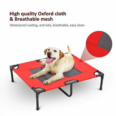 Large Indoor Outdoor Portable Raised Dog Cat Sleep Bed Elevated Camping Pet Cot