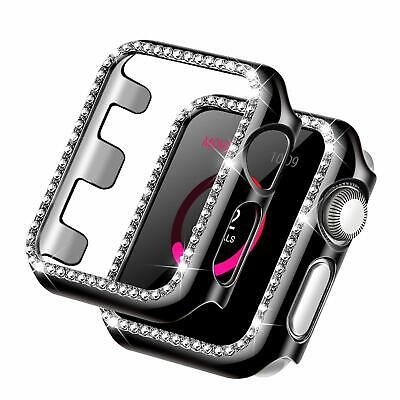 Crystal Rhinestone Bling Snap On Case Protective Bumper Cover for Apple iWatch