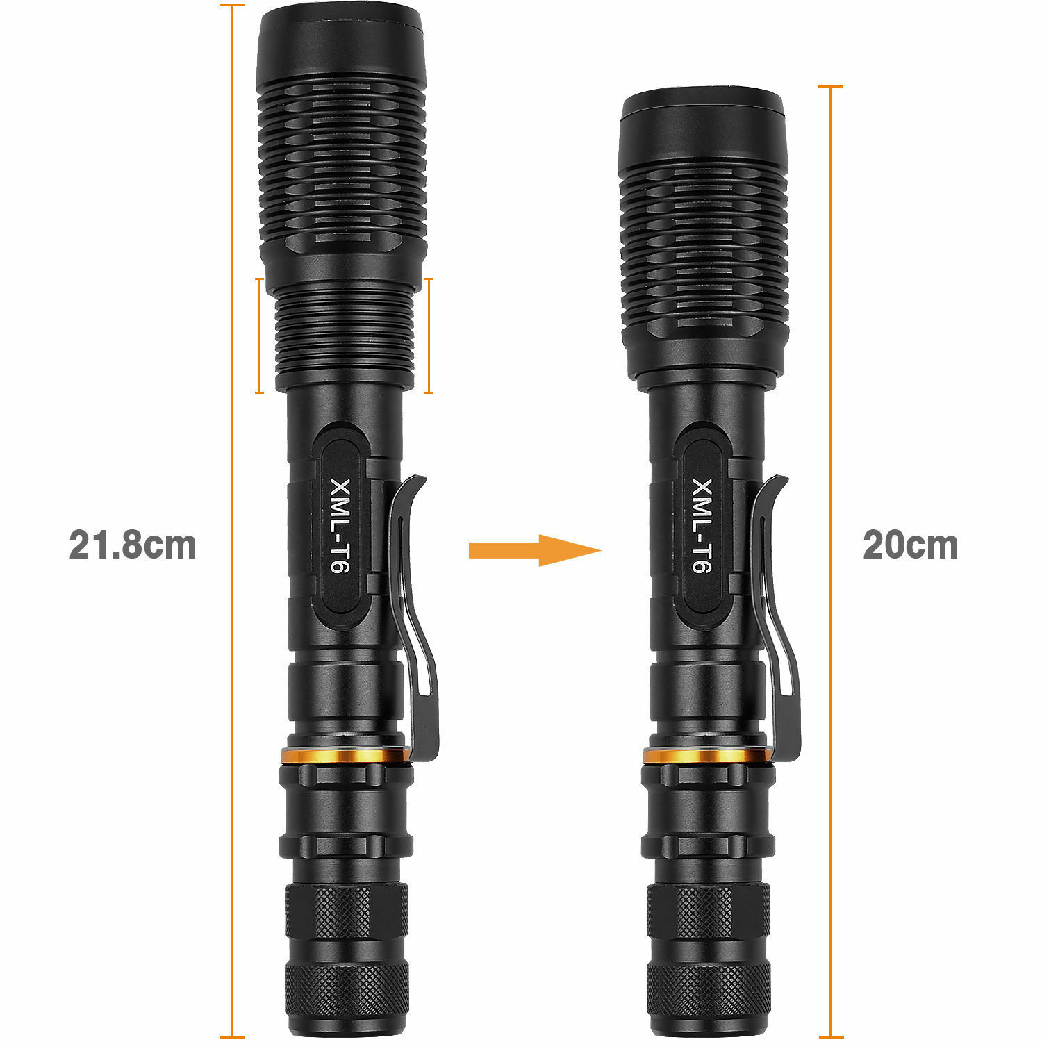 Tactical Police 13000Lumens T6 5Modes LED Flashlight Aluminum Torch Zoomable USA Camping & Hiking