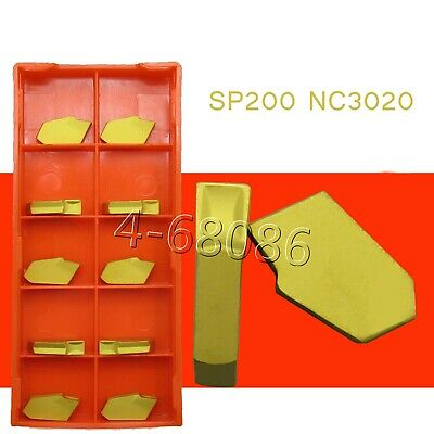 50pcs Sp200 Nc3020 Gtn-2 Grooving Cut-off Carbide Inserts 2mm Width Zqmx2n11-1e