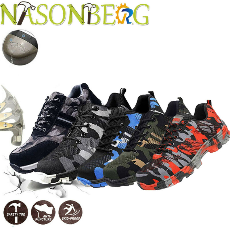 Mens Work Safety Shoes Indestructible Steel Toe Cap Boots Sneakers Shoes