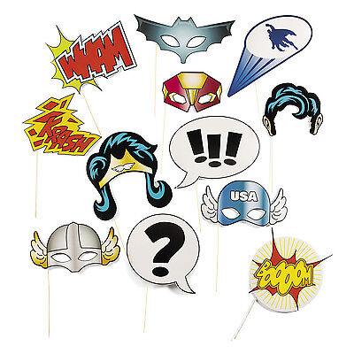 SUPERHERO super hero BIRTHDAY PARTY photo booth props KRASH WHAM BOOM - Photo Booth Wholesale