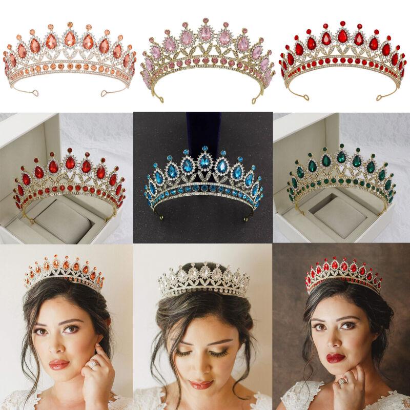 Rhinestone Wedding Tiara Queen Crown Headband Crystal Princess Hair Accessories