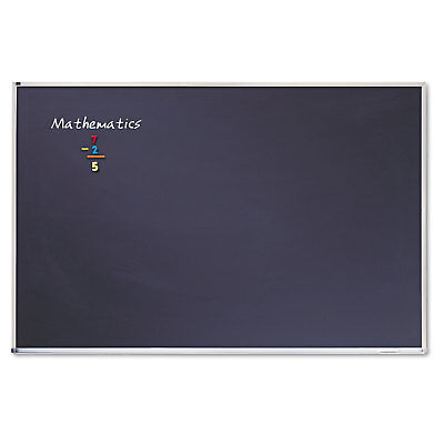 Quartet Porcelain Black Chalkboard Waluminum Frame 72 X 48 Silver Pca406b