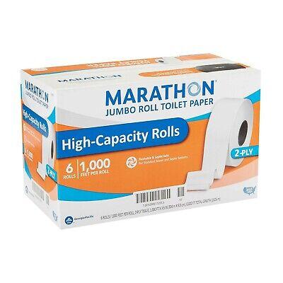 Marathon Jumbo Roll Toilet Paper White 6 Rollscase Free Shipping