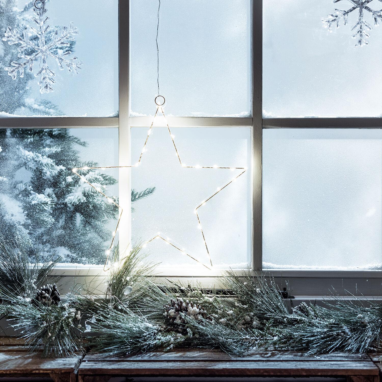 40er led stern fenster dekoration weihnachts beleuchtung. Black Bedroom Furniture Sets. Home Design Ideas
