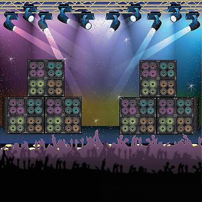 ROCK-N-ROLL Backdrop Photo PROP Door Banner Rock Star party pics