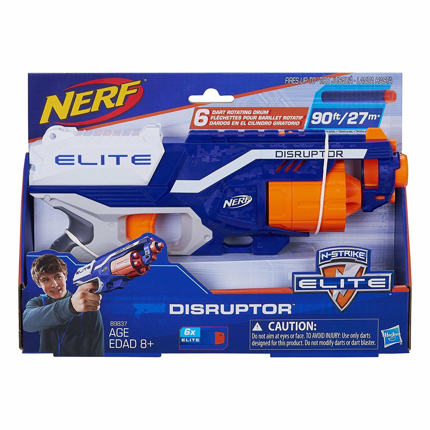 Nerf Gun N-Strike Elite Disruptor Blaster Gun with 6 Elite D