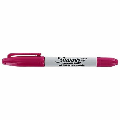 Sharpie Twin Berry Tip Fine Ultra Fine Permanent Marker Box Of 12 New In Box