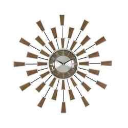 Mid Century Modern Style Sunburst Wall Clock