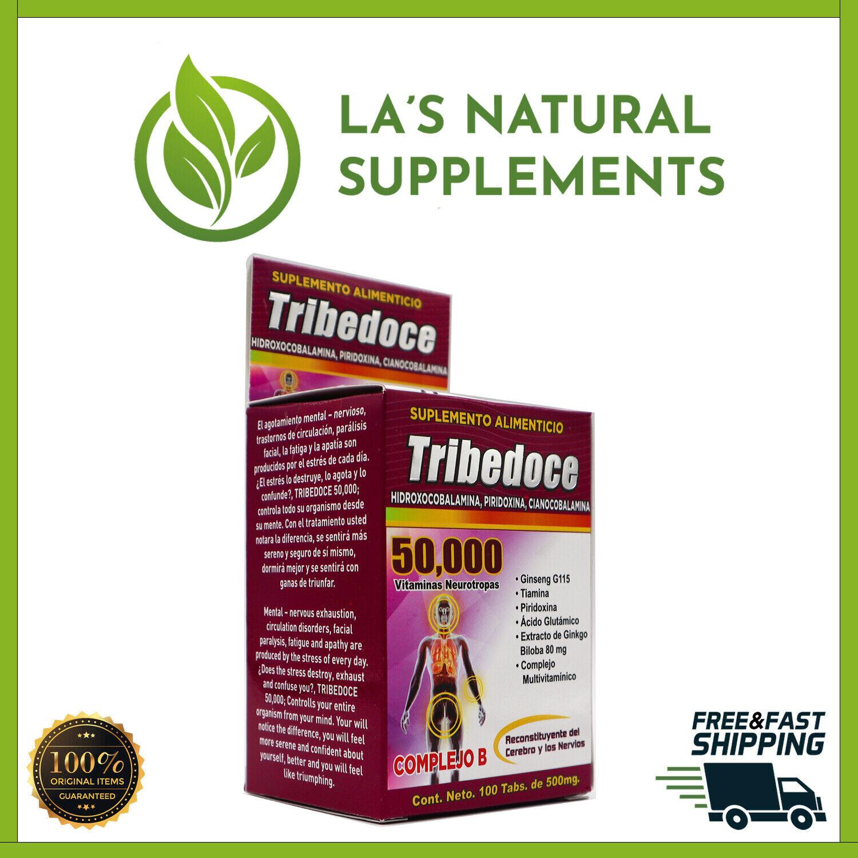 100% Original Tribedoce 50,000 (500mg 100 Tabletas)