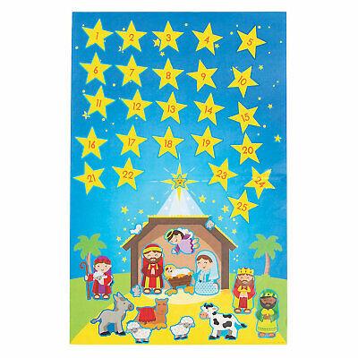Nativity Advent Calendar Sticker Scenes - Stationery - 12 Pieces
