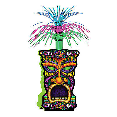 Luau TIKI Man CENTERPIECE Metallic Spray PARTY Decoration TROPICAL ISLAND