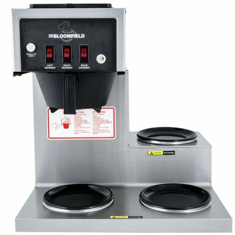 Bloomfield 8571 Koffee King Three Warmer Pour-Over Lo-Profile Coffee Brewer