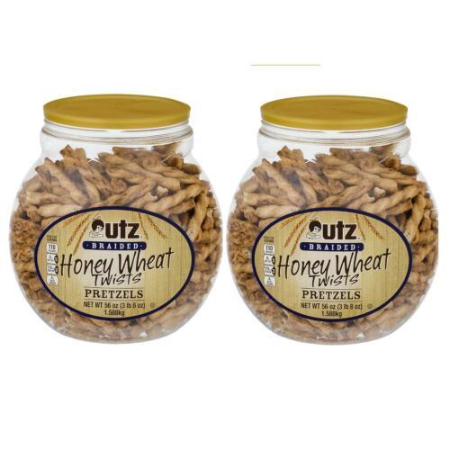 Utz Braided Pretzel Twists, Honey Wheat, 56 oz Containers