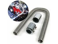 """3//8/"""" NPT Male to 1//2/"""" Push Tube Straight Male T Air Fitting muscle cars rat rods"""
