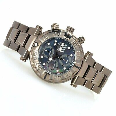 Invicta Subaqua Noma I Black MOP Valjoux 7750 Chronograph Watch 13034 LE #/50