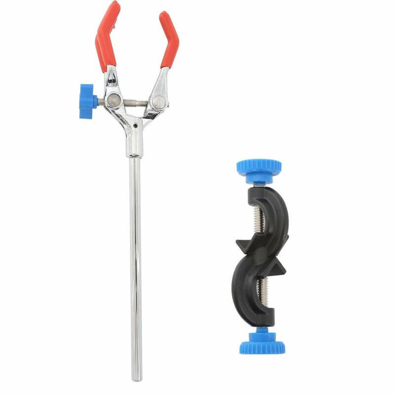 Lab Clamp 3 Prong Finger Laboratory Stand Clip with Rubber-Coated Head