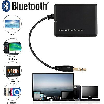 3.5mm Bluetooth Audio Sender Transmitter Stereo Musik Adapter für TV PC MP3 DE