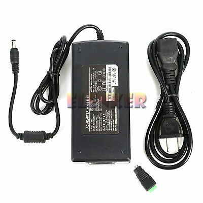 Pongy chief quality AC-DC Converter Adapter 12V 10A 120W LED Light Power Supply Charger
