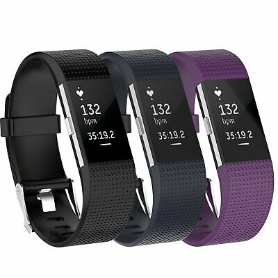 3 Pack Replacement  Band for Fitbit Charge 2 Small Bracelet