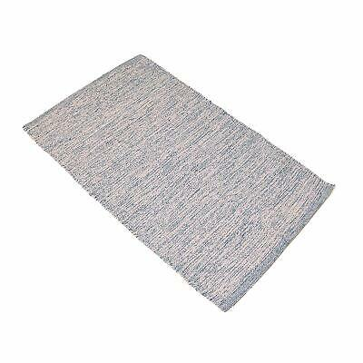 Gray 2x3' Rug Cotton Recycled Reversible Doormat Rug for Ent