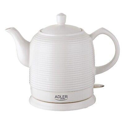 Keramik Elektrischer  Wasserkocher Keramikkessel Retro Design Adler 1,2L 1500W