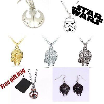 Darth Vader Star Wars Necklace Chain Pendant StormTrooper BB8 Jewelry Men Boy
