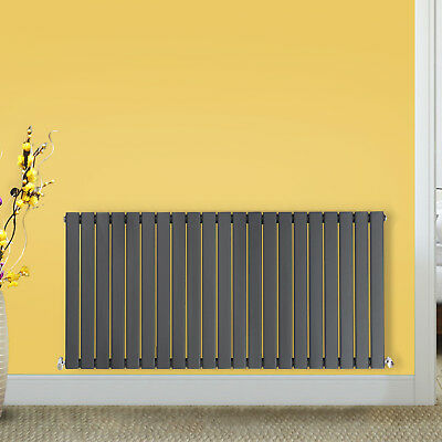 Modern Flat Panel Designer Anthracite Bathroom Horizontal Radiator 600x1428 mm