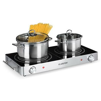 Placa de cocina Hornillo eléctrico Potente 3000W Acero Inoxidable Plateada