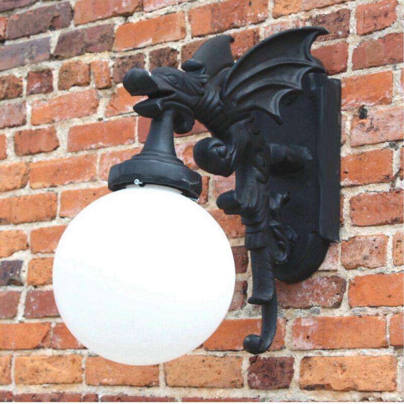Gargoyle Dragon Wall Sconce Winged Outdoor or Indoor Light Fixture