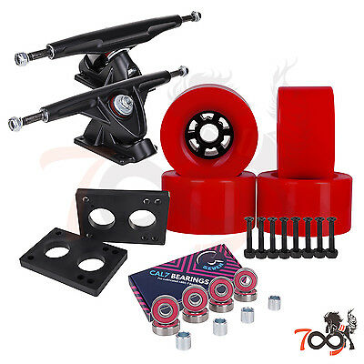 Cal 7 Longboard Flywheel 180mm Truck Bearing 90mm Red Skateboard Wheels
