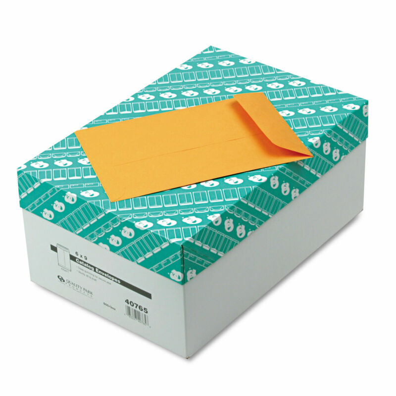 Quality Park Catalog Envelope #55 6 x 9 Brown Kraft 500/Box 40765