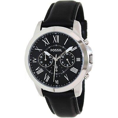 Fossil Men's Gift FS4812 Black Leather Quartz Dernier cri Watch