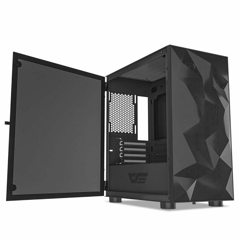 darkFlash DLM21 MESH Front Panel Micro ATX Tower Gaming Computer Case - Open Box