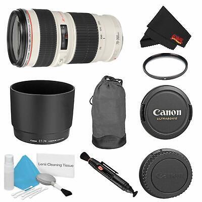 Canon EF 70-200mm f/4L USM Lens Bundle w/UV Filter (International Model)