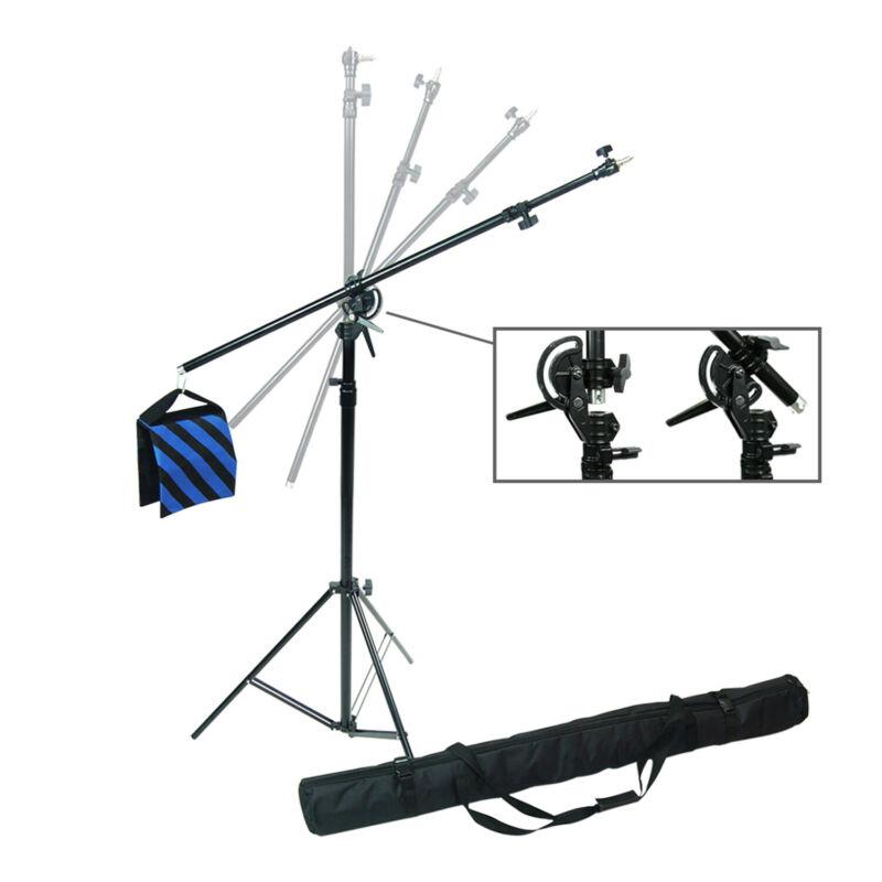 2 Way Rotatable Adjustable Tripod Boom Light Stand with Sandbag Photo Studio