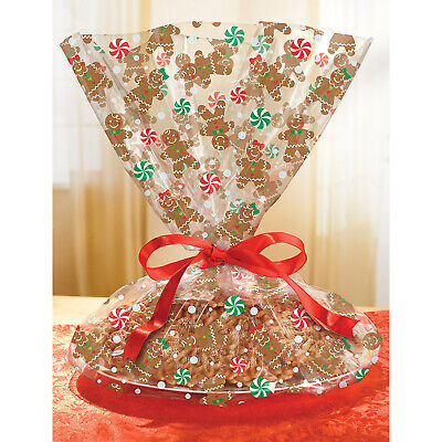 Cookie Tray Bags (Gingerbread Cookie Tray Cello Bags x)